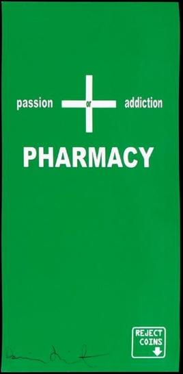 Damien Hirst-Cigarette Machine Sign-1998