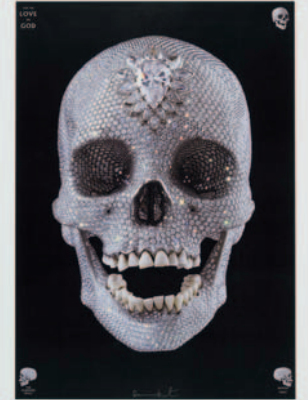 Damien Hirst-For The Love of God, The Diamond Skull-2009