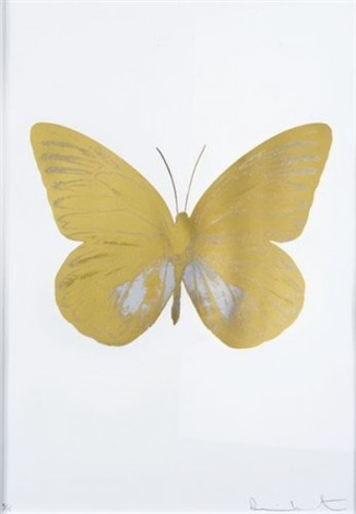 Damien Hirst-The Souls I: Golden Butterfly-2010