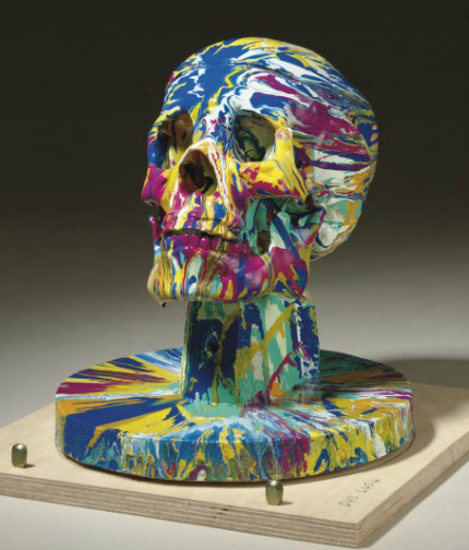 Damien Hirst-Happy Head with Base No. 4-2007