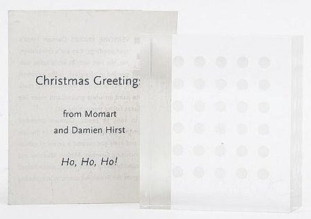 Damien Hirst-Ho Ho Ho, Momart Christmas Card-1997