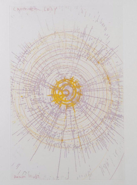 Damien Hirst-Lavender Baby (from In a Spin, the Action of the World on Things, Vol. I)-2002