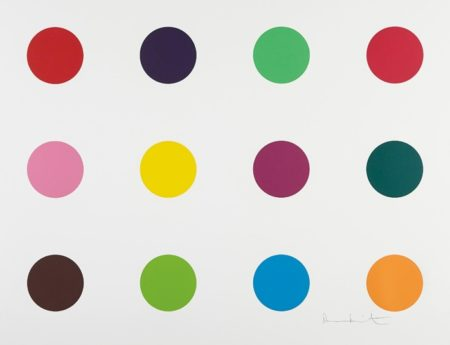 Damien Hirst-Methionine, from Woodcut Spots-2010