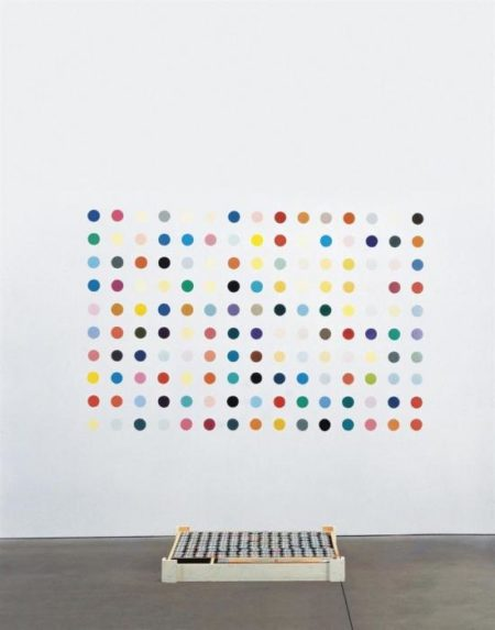 Damien Hirst-Pharmaceutic Wall Painting, Five Blacks-1993