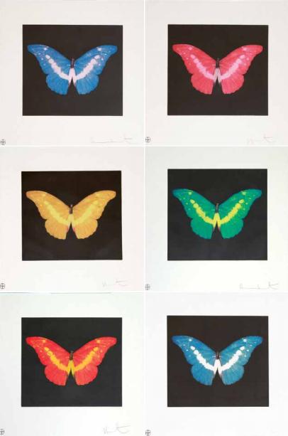 Damien Hirst-Polyptique Butterflies-
