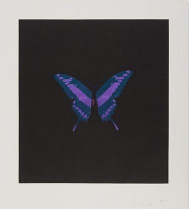 Damien Hirst-Purple Butterfly, Memento-2008