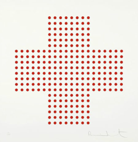 Damien Hirst-Red Cross-2008