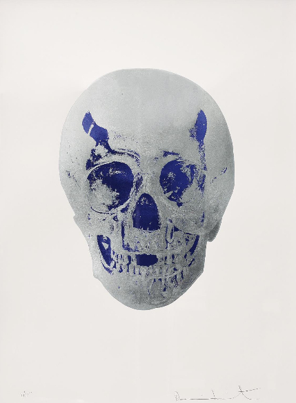 Damien Hirst-Silver Gloss, Westminster Blue, Skull, The Dead-2009