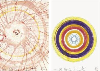 Damien Hirst-Spin Drawing-1994