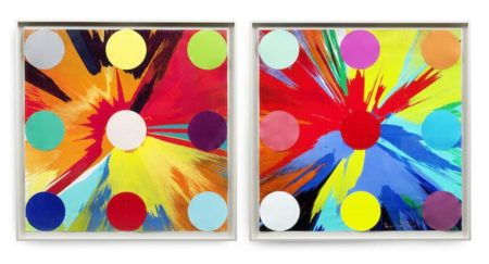 Damien Hirst-Spin Painting With Spots-2014