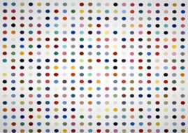 Damien Hirst - Spot painting. Image via whatartdoes.wordpress.com