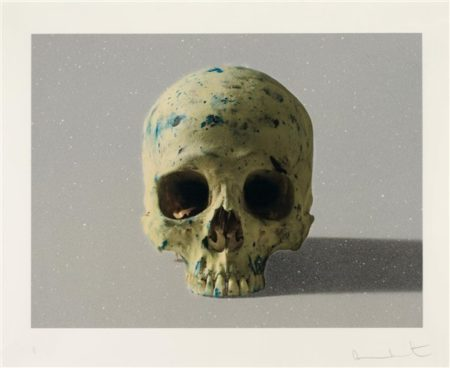 Damien Hirst-Studio Half Skull, Face On-2009