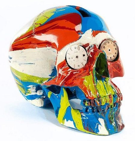 Damien Hirst-The Hours Spin Skull-2009