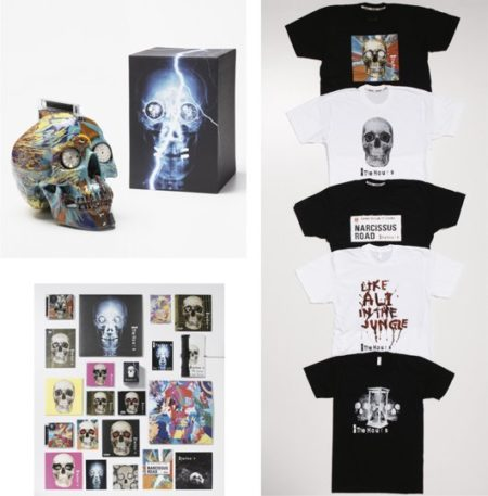 Damien Hirst-The Hours Spin Skull & All Hours Merchandise-2009