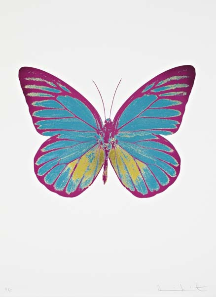 Damien Hirst-The Souls I: Turquoise, Oriental Gold, Fuchsia Pink-2010
