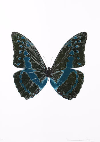 Damien Hirst-The Souls III Butterfly-2010