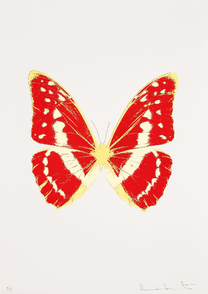 Damien Hirst-The Souls III: Chilli Red, Cool Gold, Oriental Gold-2010
