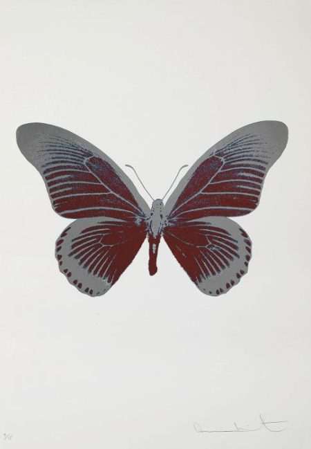 Damien Hirst-The Souls IV: Chilli Red, Silver Gloss-2010