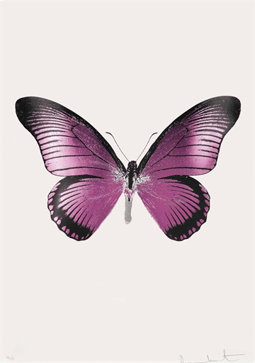 Damien Hirst-The Souls IV: Loganberry Pink, Raven Black, Silver Gloss-2010