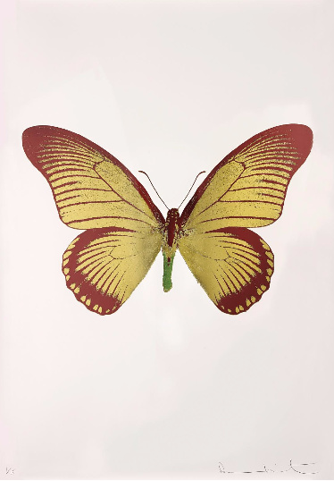 Damien Hirst-The Souls IV: Oriental Gold, Burgundy, Leaf Green-2010
