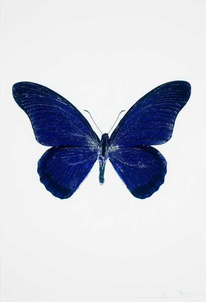 Damien Hirst-The Souls IV: Westminster Blue, Raven Black, Cool Gold-2010