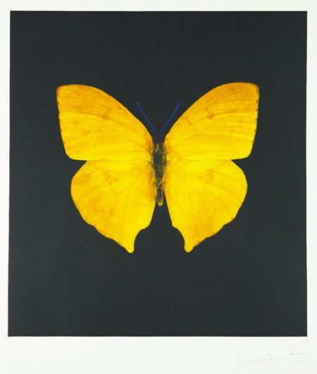 Damien Hirst-The Souls on Jacob's Ladder Take Their Flight (Yellow Butterfly)-2007