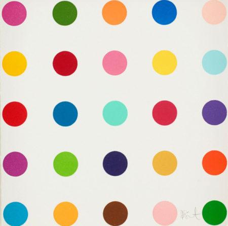 Damien Hirst-Thr-ser (1-inch Woodcut Spot)-2012