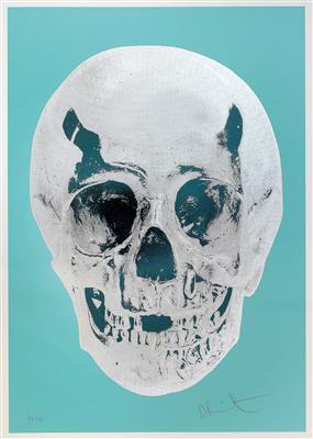 Damien Hirst-Till Death Do Us Part (Heavenly Peppermint Green Silver Gloss Racing Skull)-2012