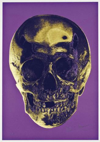 Damien Hirst-Till Death Do Us Part (Long Life Purple African Gold Purple Imperial Purple Skull)-2012