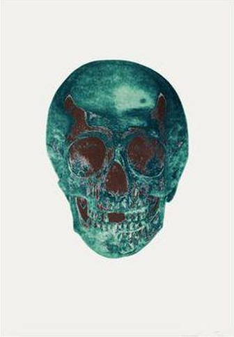 Damien Hirst-Dead Turquoise Panama Copper Skull-