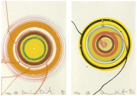 Damien Hirst-Two Spin Drawings-1994