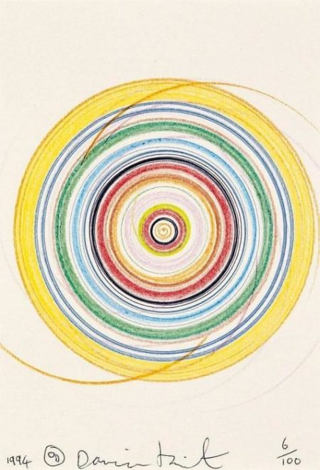 Damien Hirst-Untitled (Spin Drawing)-1994