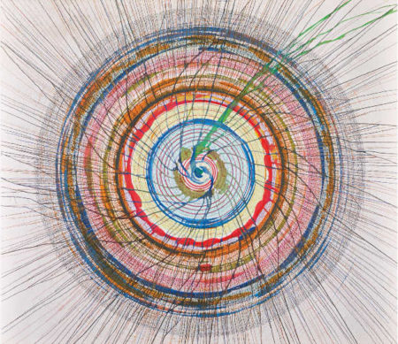 Damien Hirst-Untitled (Spin Drawing)-2002