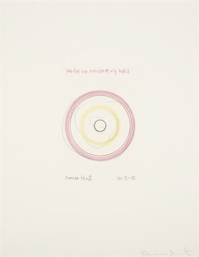 Damien Hirst-You Threw a Melon at my Head (from In a Spin, the Action of the World on Things Vol.I)-2002