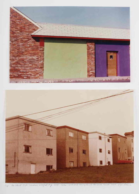 Dan Graham-Neo-Colonial' Style Warehouse, Westfield, N.J., World War II Housing Project, Vancouver, Canada-1979