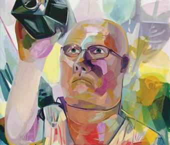Dana Schutz-Man with a Video Camera-2006