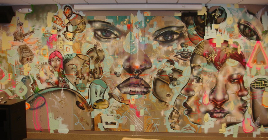 David Choe - Original Facebook Mural