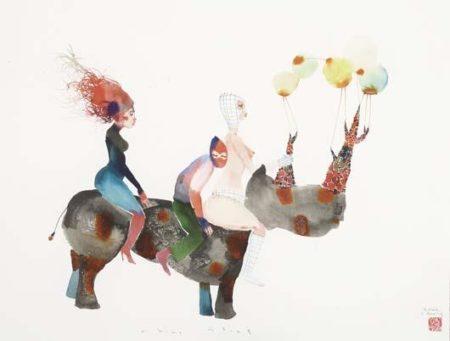 David Choe-Rhino Stomp-2008