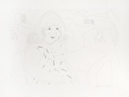 David Hockney-Ann in the Studio-1984