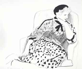 David Hockney-Celia in an Armchair-1981