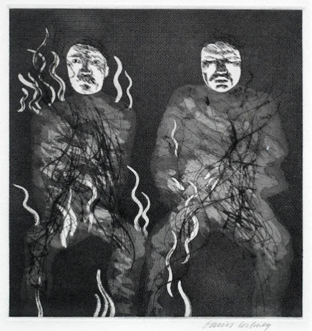 David Hockney-Corpses on Fire, from Illustrations for Six Fairy Tales from the Brothers Grimm (MCA Tokyo 88)-1969