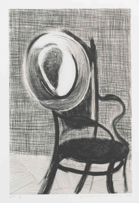 David Hockney-Hat On Chair-1998