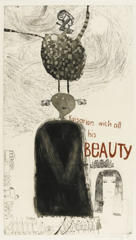 David Hockney-Kaisarion And All His Beauty-1961
