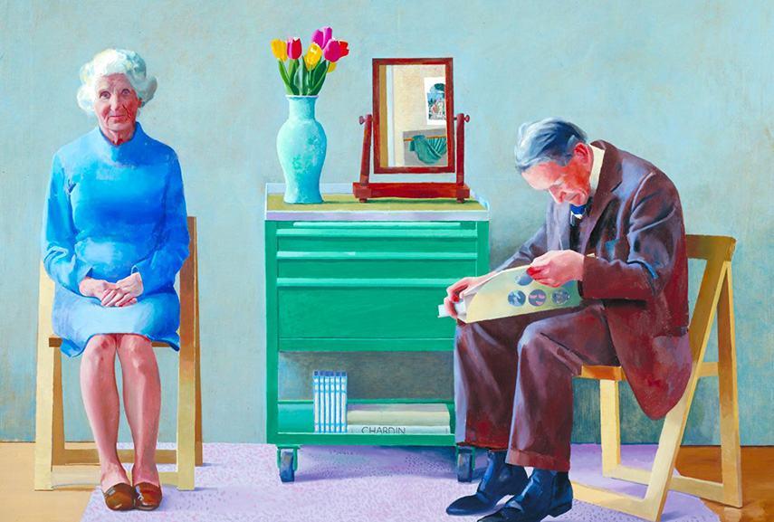 Hockney - My Parents, 1977