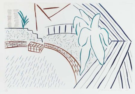 David Hockney-My Pool and Terrace from Eight by Eight to Celebrate the Temporary Contemporary-1984