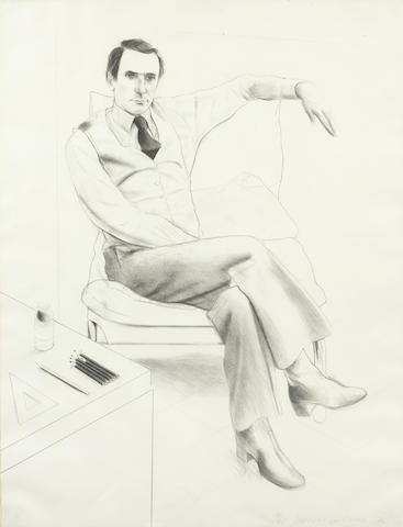 David Hockney-Nicholas Wilder from Friends-1976