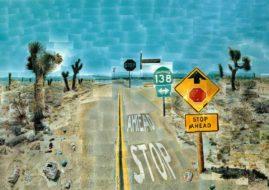 David Hockney - Pearlblossom Highway. Image via pinterest.com