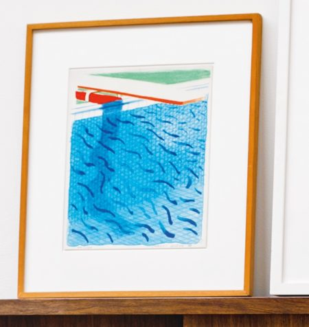 David Hockney-Pool Made With Paper Blue Ink For Book (Museum Of Contemporary Art Tokyo 234)-1980
