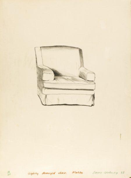 David Hockney-Slightly Damaged Chair, Malibu-1973