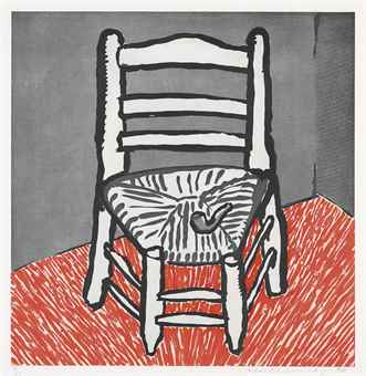David Hockney-Van Gogh Chair (White)-1998
